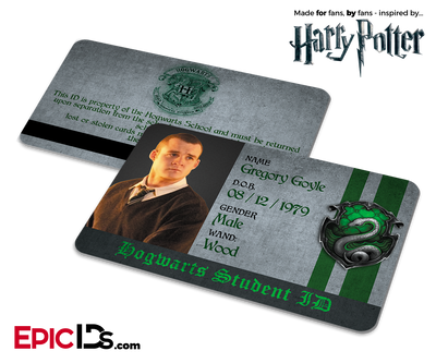 Harry Potter Inspired Hogwarts Student ID (Slytherin) - Gregory Goyle