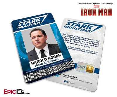 Iron Man / Avengers Inspired Stark Industries Employee ID - Harold Hogan