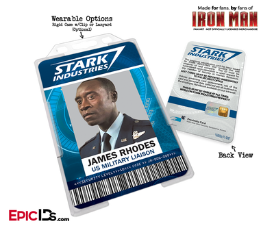 Iron Man / Avengers Inspired Stark Industries Cosplay Name Badge Employee ID [Movie Characters]