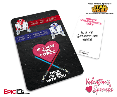 Pocket Sized Premium Valentines Day Star Wars 'Light Side' Custom Card Pack