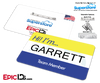 Employee Name Badge 'Superstore' Wearable ID - Garrett