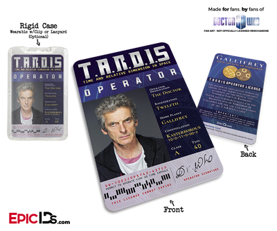 TARDIS 'Doctor Who' Operator License - (12) The Twelfth Doctor