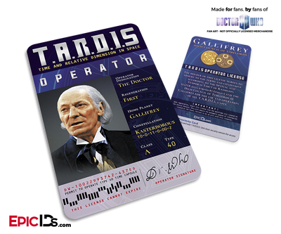 TARDIS 'Doctor Who' Operator License - (01) The First Doctor