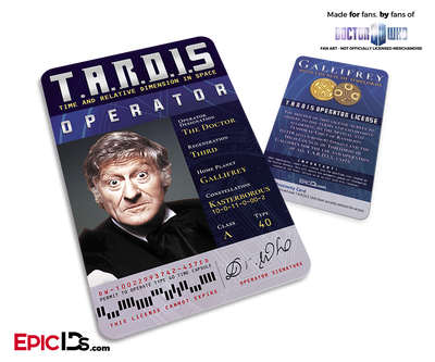 TARDIS 'Doctor Who' Operator License - (03) The Third Doctor