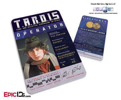 TARDIS 'Doctor Who' Operator License - (04) The Forth Doctor