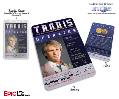 TARDIS 'Doctor Who' Operator License - (05) The Fifth Doctor