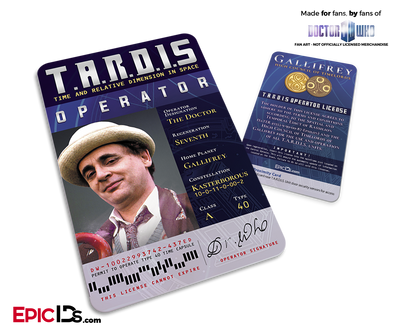 TARDIS 'Doctor Who' Operator License - (07) The Seventh Doctor