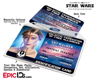 Star Wars Inspired Galactic Alliance Identification Card [Photo Personalized]