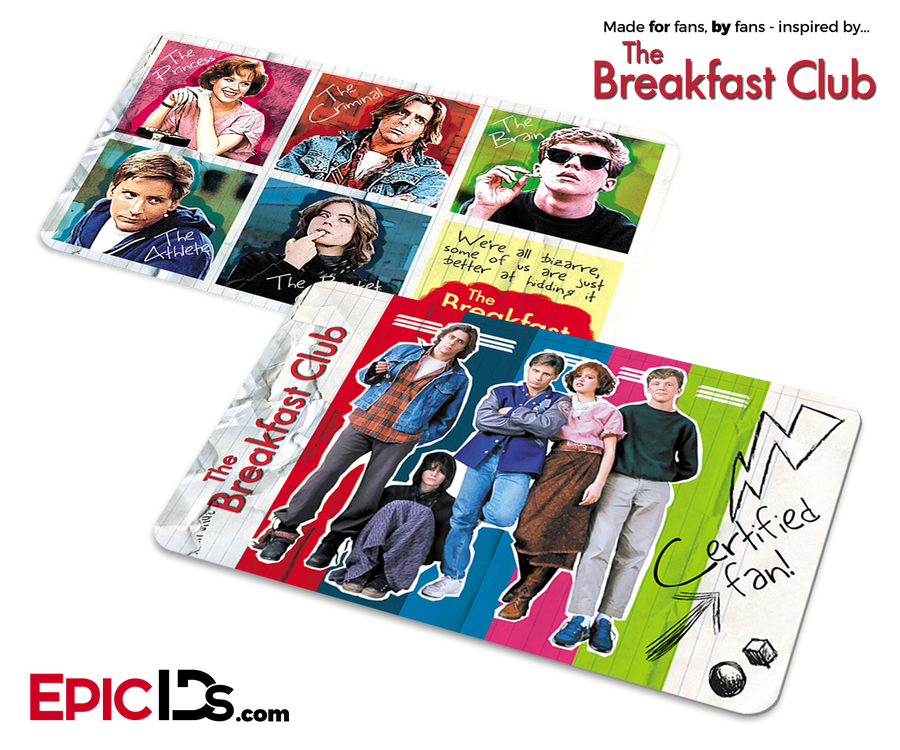 The Breakfast Club Inspired Certified Fan Card