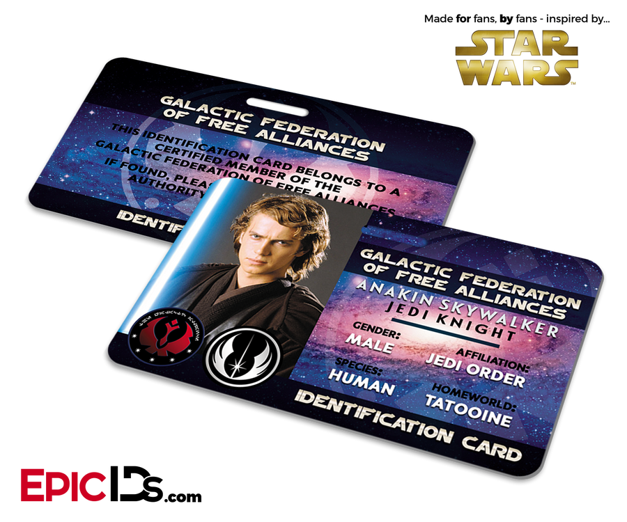 Star Wars Inspired - Galactic Alliance - Anakin Skywalker Identification Card