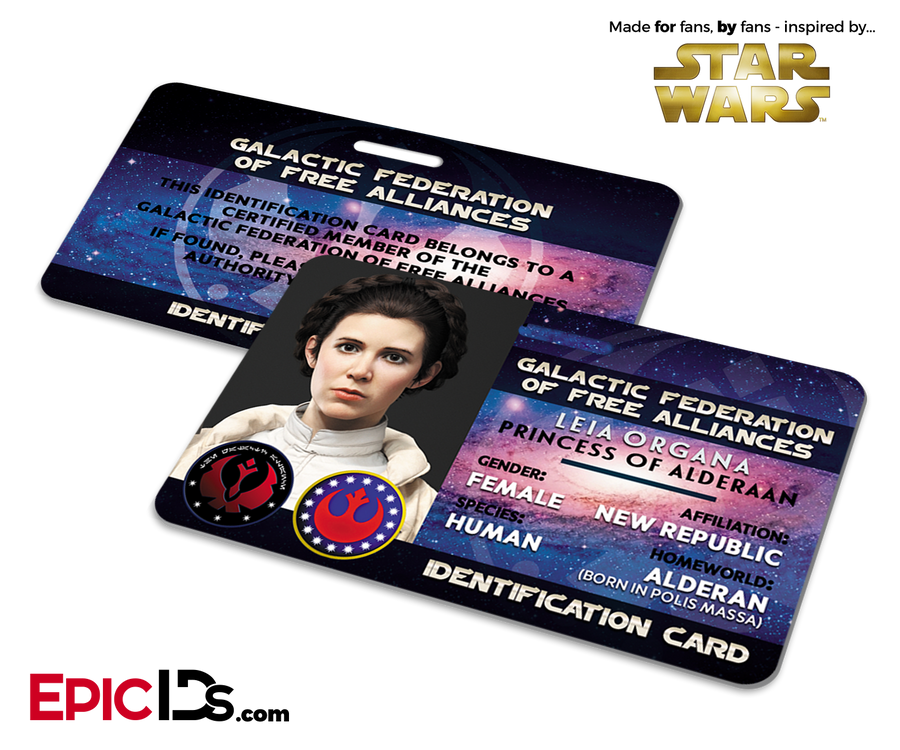 Star Wars Inspired - Galactic Alliance - Leia Organa Identification Card