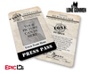 "The X-Files / The Lone Gunmen Inspired ""Personalized"" TLG Newsletter Press Pass"