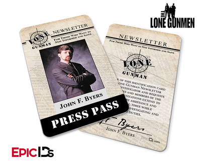 The X-Files / The Lone Gunmen Inspired John Byers TLG Newsletter Press Pass