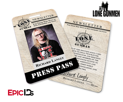 The X-Files / The Lone Gunmen Inspired Richard Langly TLG Newsletter Press Pass