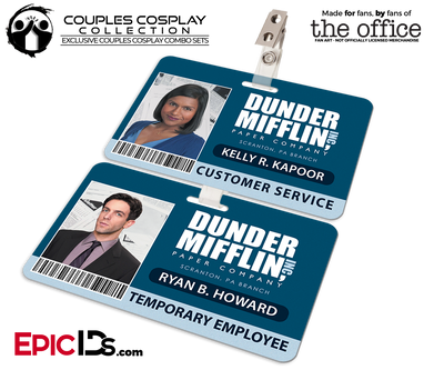 Dunder Mifflin 'The Office' Employee ID Name Badges [Couples Cosplay]