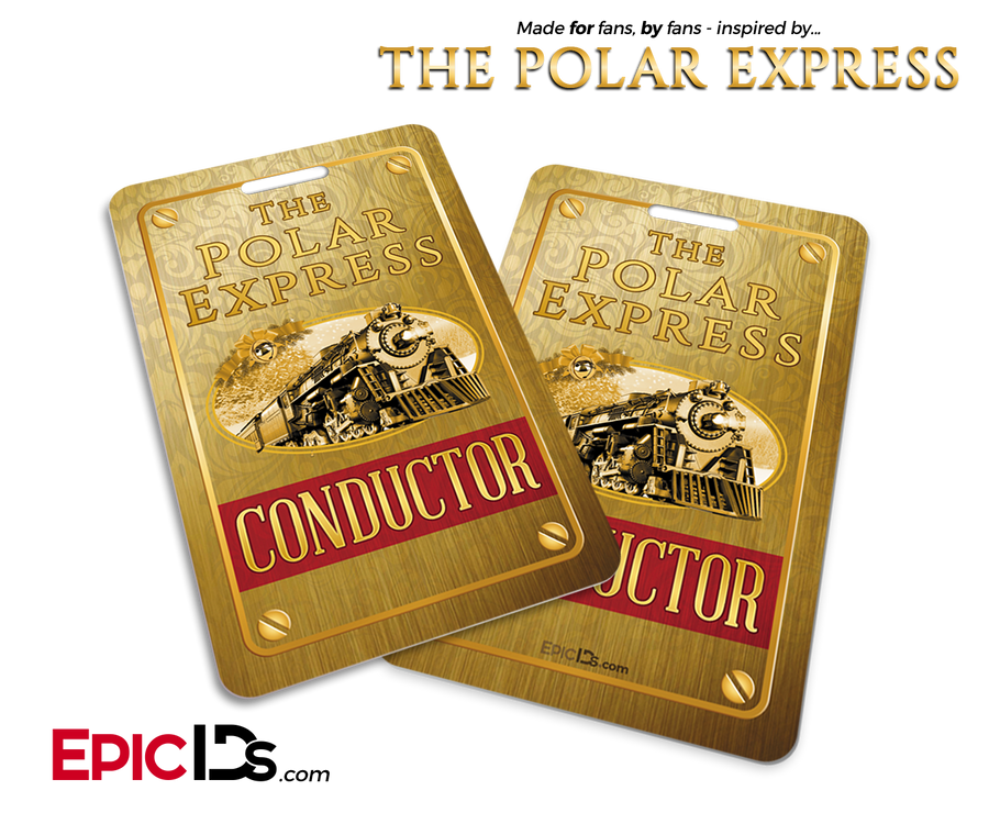 The Polar Express Inspired Train Conductor ID Card