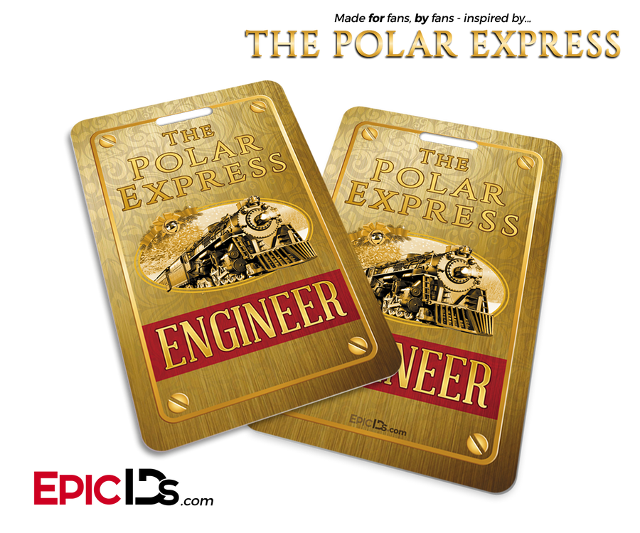 The Polar Express Inspired Train Engineer ID Card