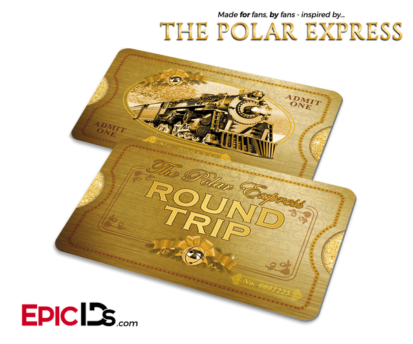 The Polar Express Inspired North Pole Train Ticket Card