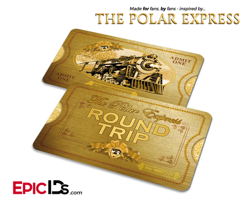 The Polar Express Inspired North Pole Train Ticket (Card)