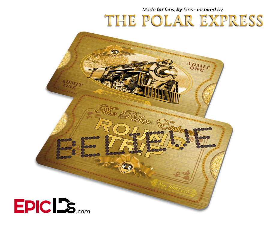 The Polar Express Inspired North Pole 'Believe' Train Ticket (Card)