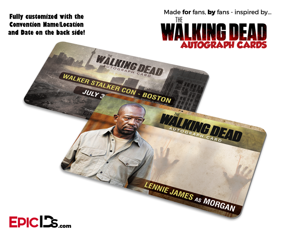 The Walking Dead Convention Attendee Wallet Sized Autograph Cards (3-Pack)