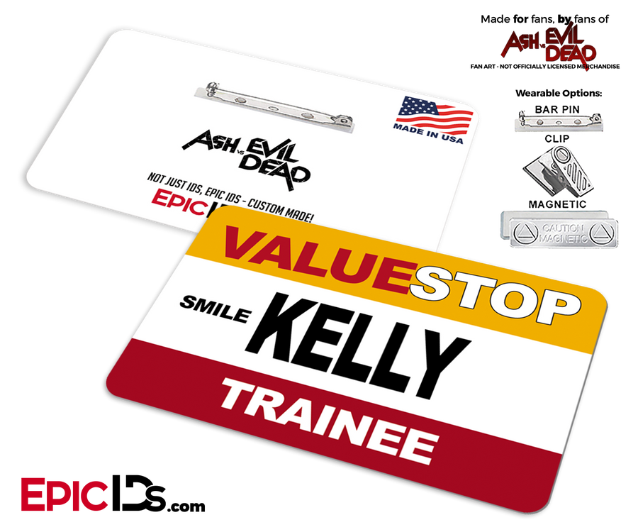 ValueStop 'Ash vs Evil Dead' Cosplay Replica Name Badge - Kelly (Trainee)