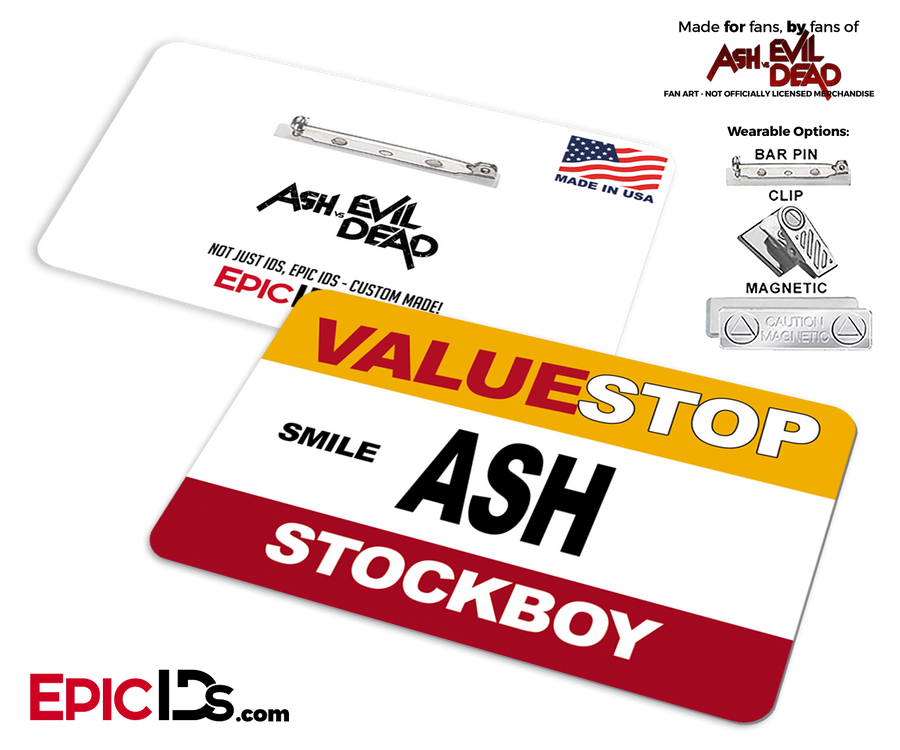 ValueStop 'Ash vs Evil Dead' Cosplay Replica Name Badge - Ash (Stockboy)