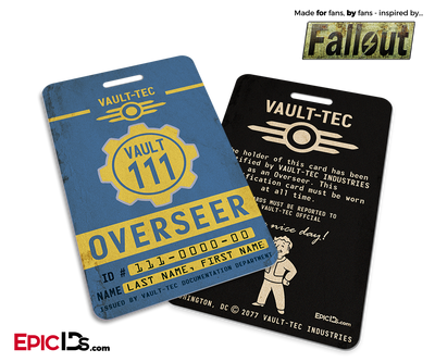 Overseer 'Fallout' Cosplay Vault ID Badge [Personalized]