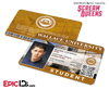 Scream Queens Inspired Wallace University Student ID - Boone Clemens