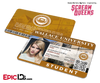 Scream Queens Inspired Wallace University Student ID - Chanel Oberlin