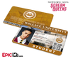 Scream Queens Inspired Wallace University Student ID - Earl Grey