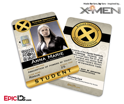 Xavier Institute For Higher Learning 'X-Men' Student ID Card - Anna Marie / Rogue