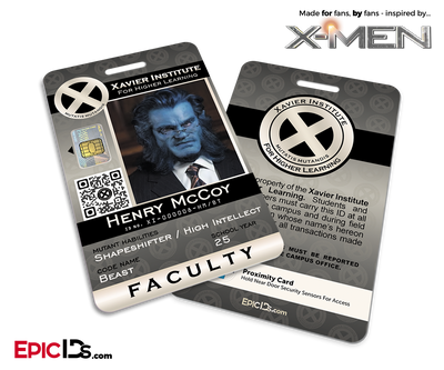 Xavier Institute For Higher Learning 'X-Men' Faculty ID Card - Henry McCoy / Beast