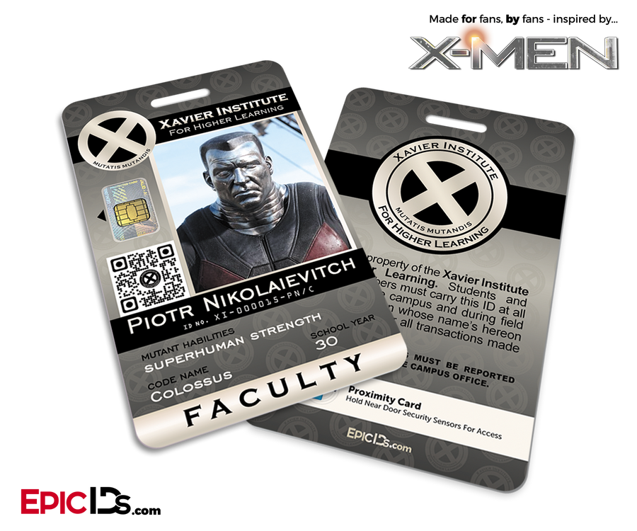 Xavier Institute For Higher Learning 'X-Men' Faculty ID Card - Piotr Nikolaievitch / Colossus
