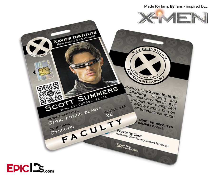 Xavier Institute For Higher Learning 'X-Men' Faculty ID Card - Scott Summers / Cyclops