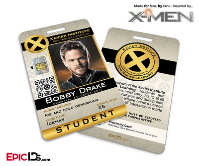 Xavier Institute For Higher Learning 'X-Men' Student ID Card - Bobby Drake / Iceman