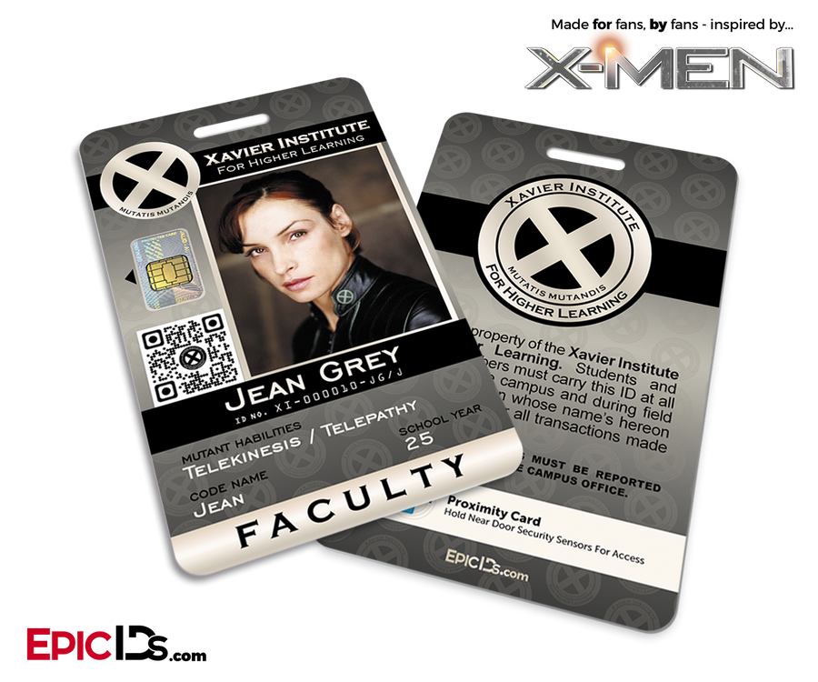 Xavier Institute For Higher Learning 'X-Men' Faculty ID Card - Jean Grey / Jean