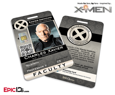 Xavier Institute For Higher Learning 'X-Men' Faculty ID Card - Charles Xavier / Professor X