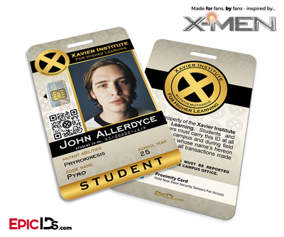 Xavier Institute For Higher Learning 'X-Men' Student ID Card - John Allerdyce / Pyro