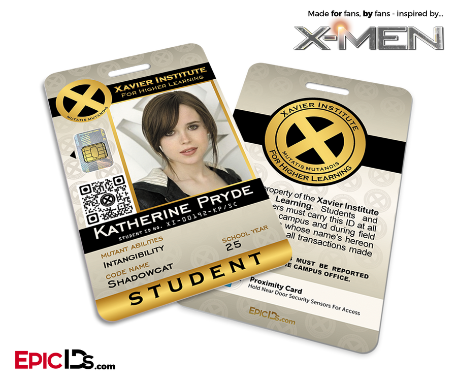 Xavier Institute For Higher Learning 'X-Men' Student ID Card - Katherine Pryde / ShadowCat