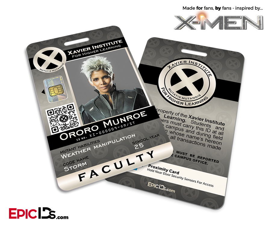 Xavier Institute For Higher Learning 'X-Men' Faculty ID Card - Ororo Munroe / Storm