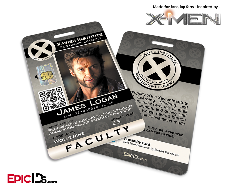 Xavier Institute For Higher Learning 'X-Men' Faculty ID Card - James Logan / Wolverine