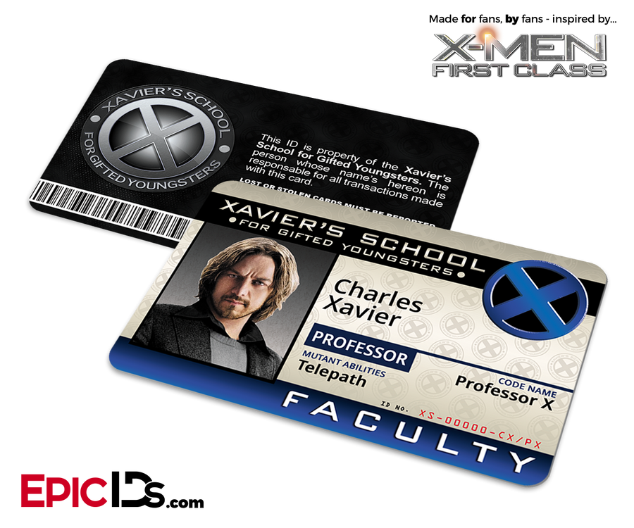 Xavier Institute For Gifted Youngsters 'X-Men' Faculty ID Card - Charles Xavier / Professor X