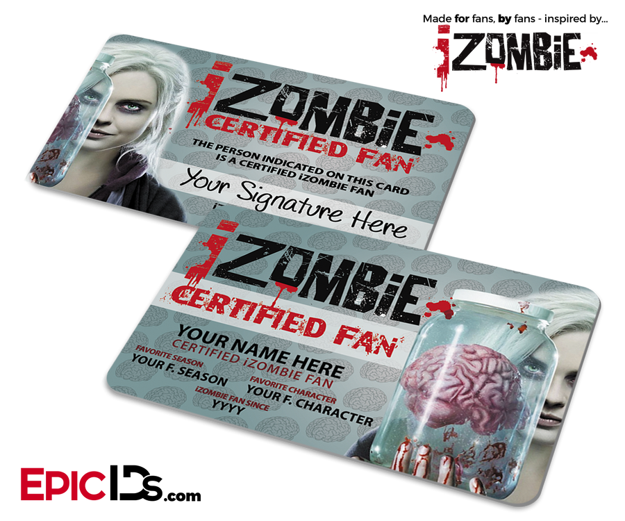iZombie Unofficial Certified Fan ID Card [Personalized]
