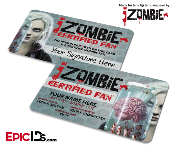 iZombie Certified Fan ID Cards [Standard or Personalized]