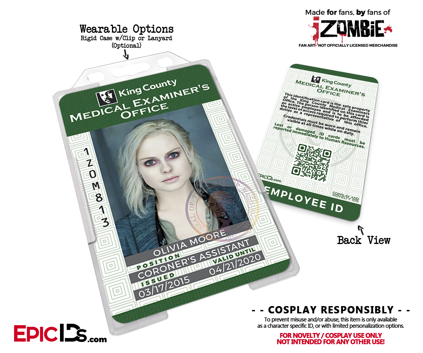 'izombie' Office Cosplay Medical Examiners County - Ids King t Epic Employee