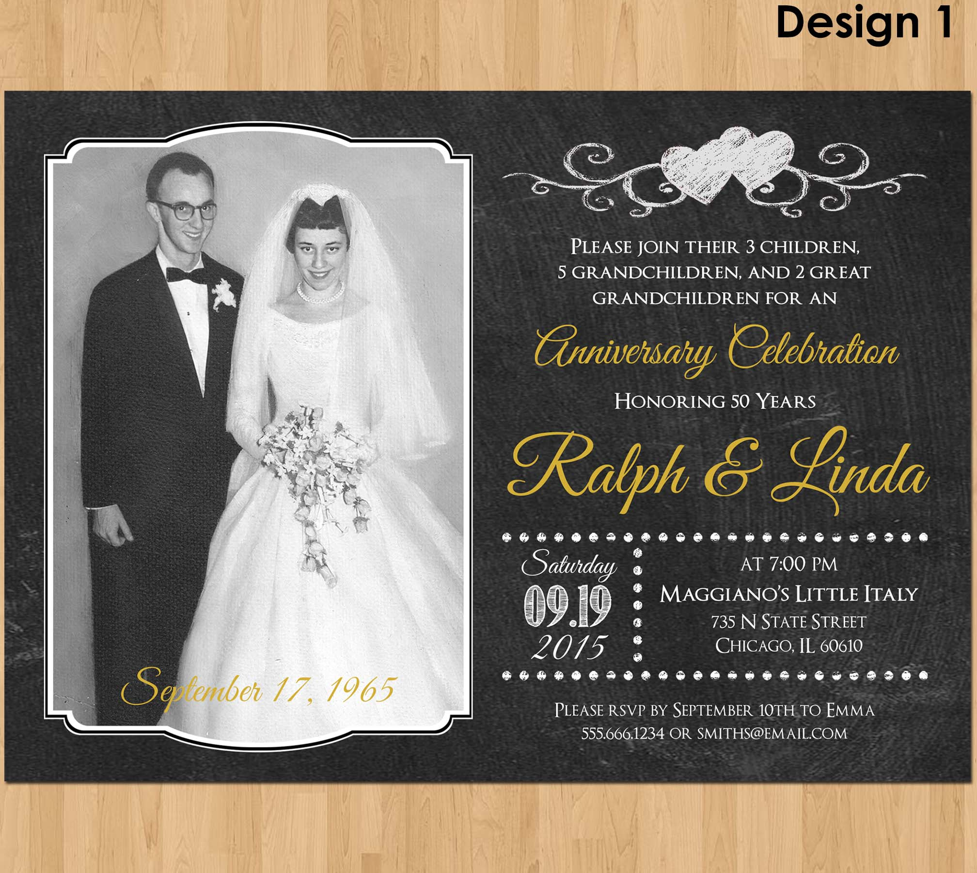 50th Anniversary Invitation Printable 50th Wedding Anniversary