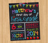 First Day of School Sign Chalkboard Printable Poster, Back to School Photo Prop, Any Grade