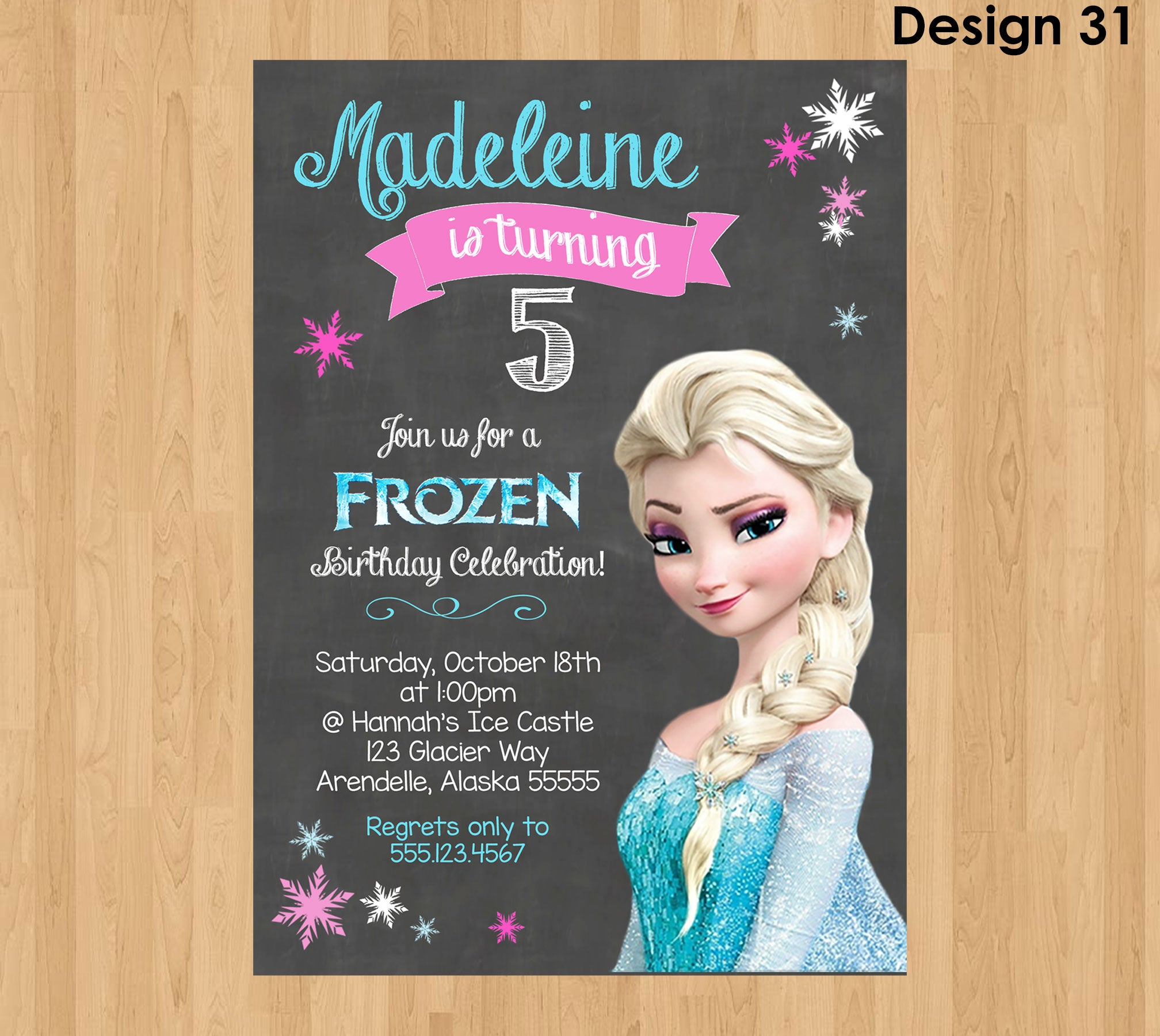 image regarding Frozen Birthday Card Printable referred to as ELSA INVITATION, Frozen Chalkboard Invitation, Frozen Invitation, Frozen Social gathering Invitation, Frozen Birthday Invite, Elsa Birthday Invitation