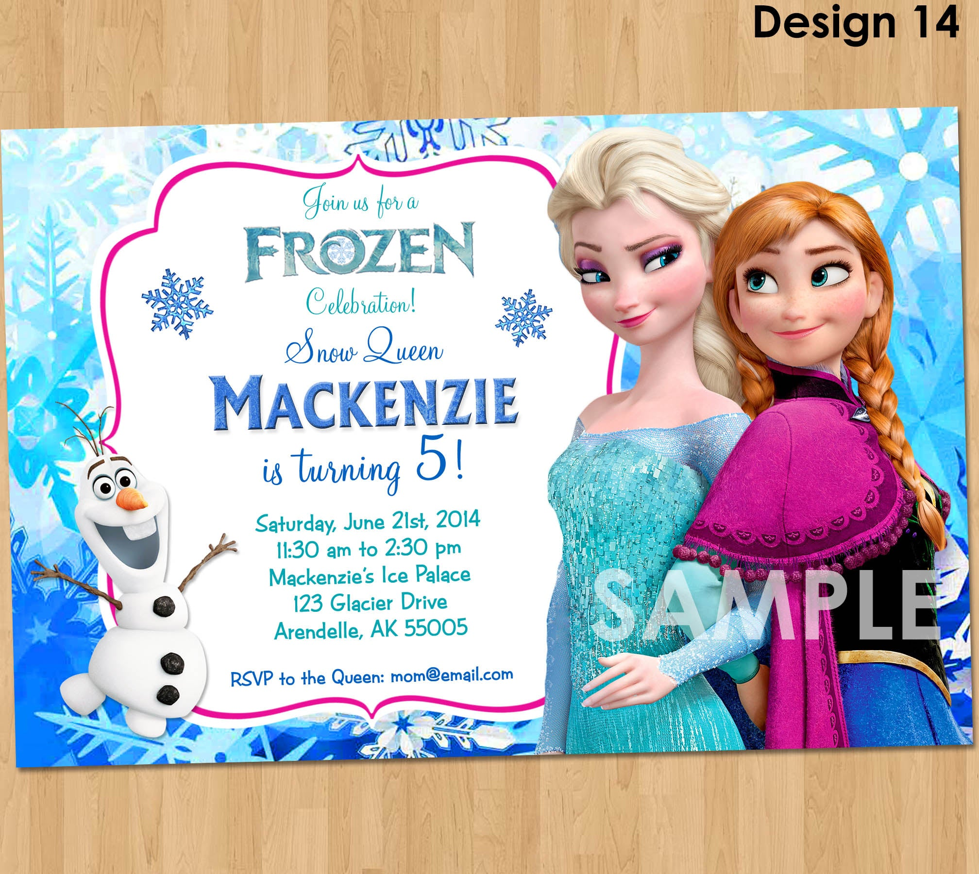 graphic about Printable Frozen Birthday Card named Frozen Invitation - Frozen Birthday Invitation - Disney Frozen Celebration Invitations - Birthday Social gathering Plans Printable Elsa Anna Olaf